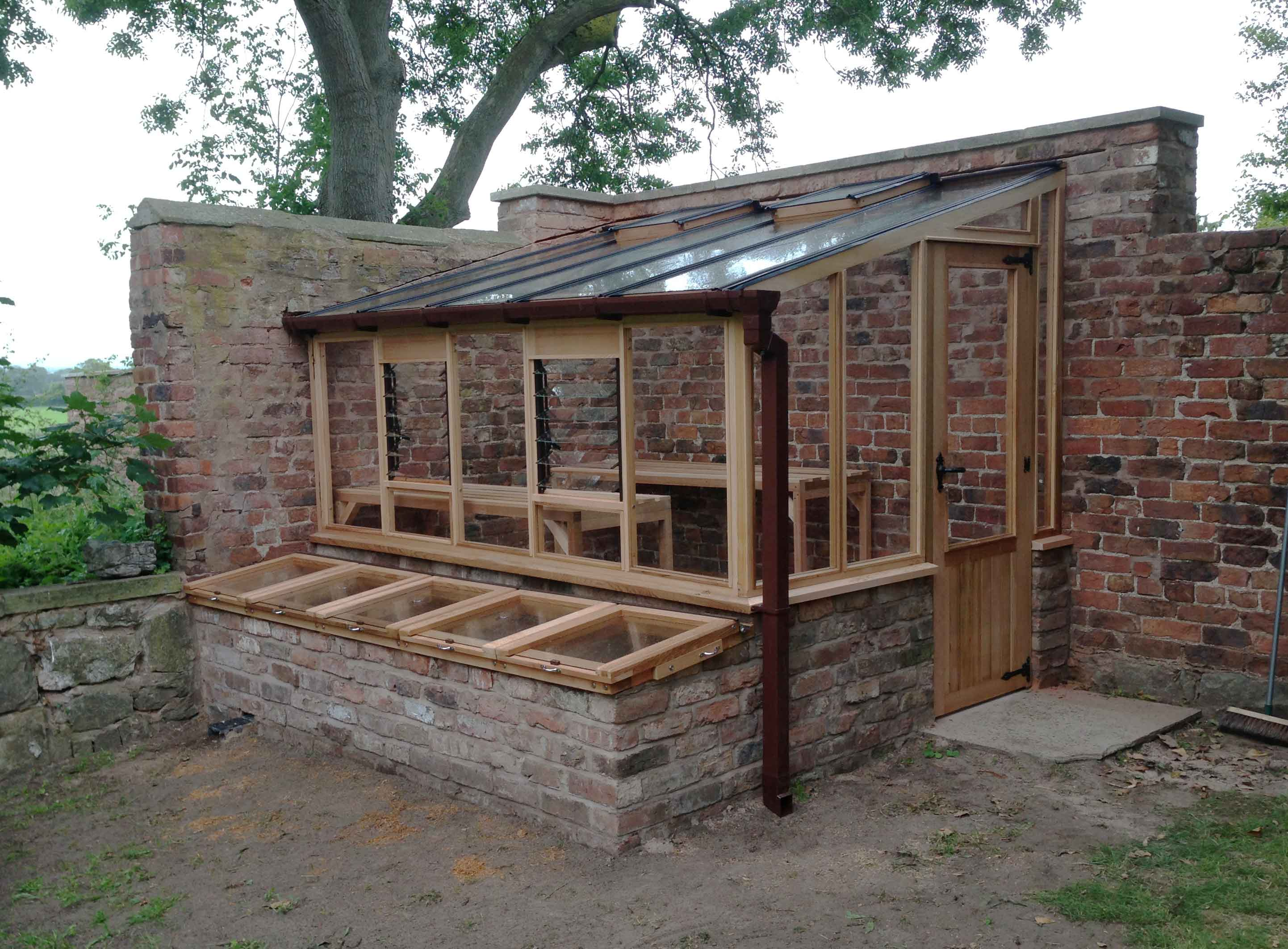 Lean to woodpecker joinery for Lean to barn